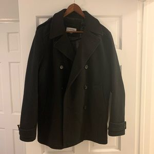 Black Calvin Klein Double-breasted pea coat size M